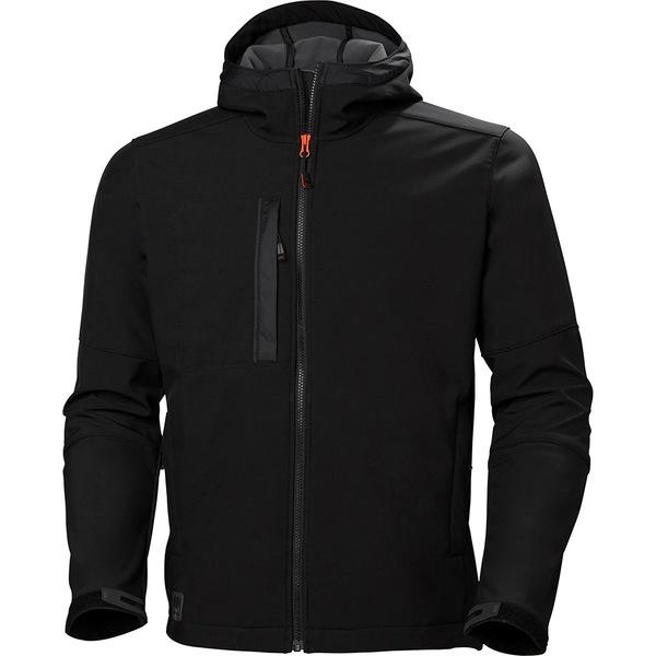ヘリーハンセン メンズ ジャケット&ブルゾン アウター Kensington Hooded Softshell - Men's Black