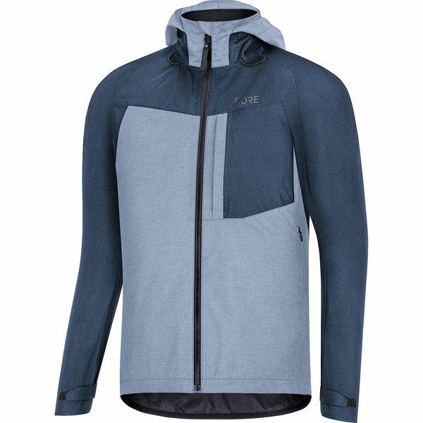 ゴアウェア メンズ サイクリング スポーツ C5 Gore-Tex Trail Hooded Jacket - Men's Deep Water Blue