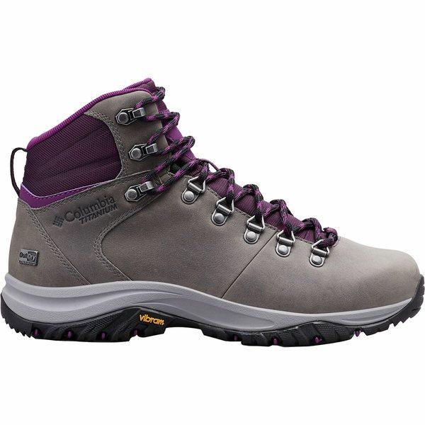 コロンビア レディース ハイキング スポーツ 100MW Titanium Outdry Hiking Boot - Women's Ti Grey Steel/Black Cherry