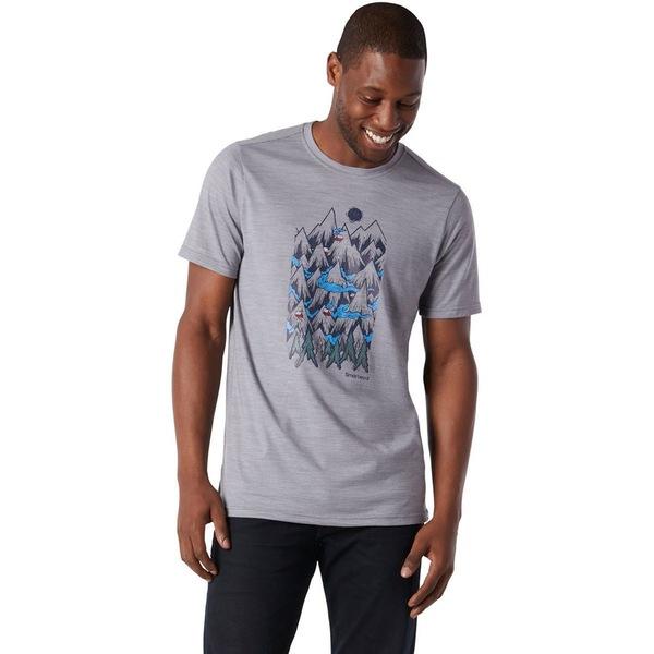 スマートウール メンズ シャツ トップス Merino Sport 150 Mountain Ventures T-Shirt - Men's Light Gray Heather