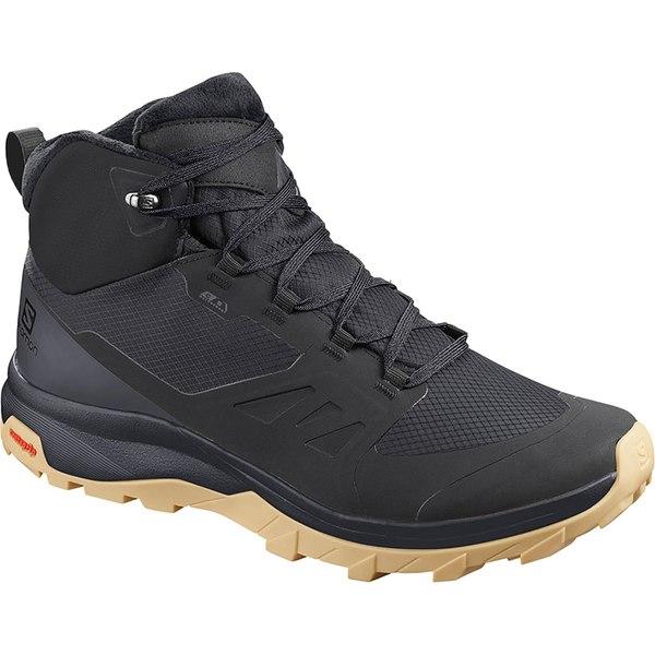 サロモン メンズ ブーツ&レインブーツ シューズ Outsnap CS WP Boot - Men's Black/Ebony/Gum1a
