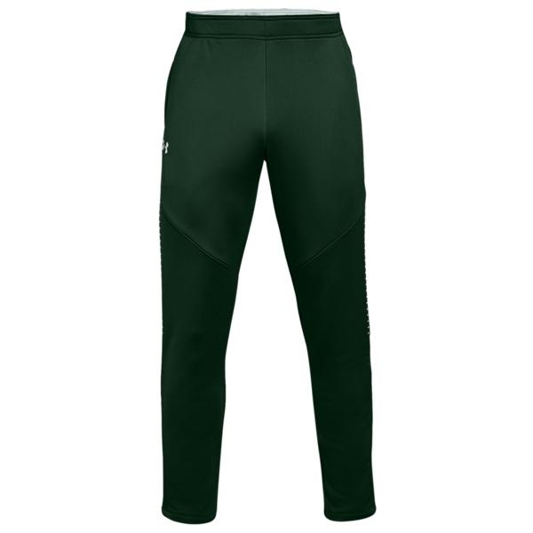 アンダーアーマー メンズ カジュアルパンツ ボトムス Team Qualifier Hybrid WarmUp Pants Forest Green/White