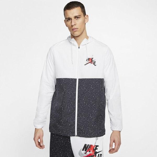 ジョーダン メンズ ジャケット&ブルゾン アウター Jumpman Classics Windwear Jacket White/Black/Infrared 23/Metallic Silver