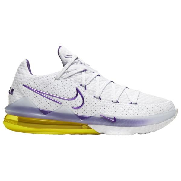 ナイキ メンズ バスケットボール スポーツ LeBron 17 Low Lebron James   White/Voltage Purple/Dynamic Yellow