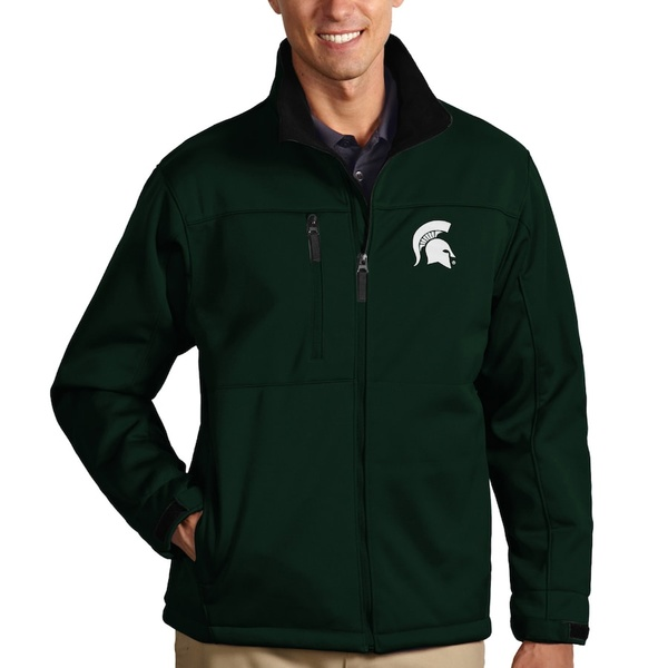アンティグア メンズ ジャケット&ブルゾン アウター Michigan State Spartans Antigua Traverse Full-Zip Jacket Green