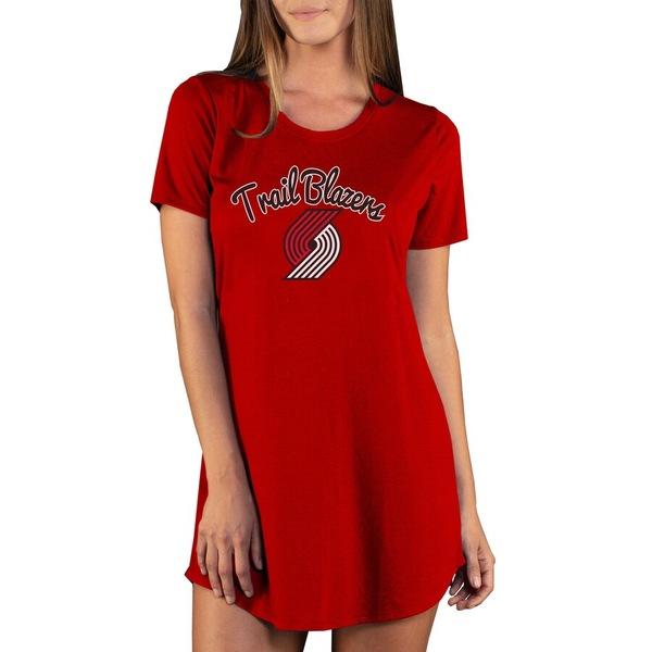 コンセプトスポーツ レディース ワンピース トップス Portland Trail Blazers Concepts Sport Women's Marathon Knit Nightshirt Red