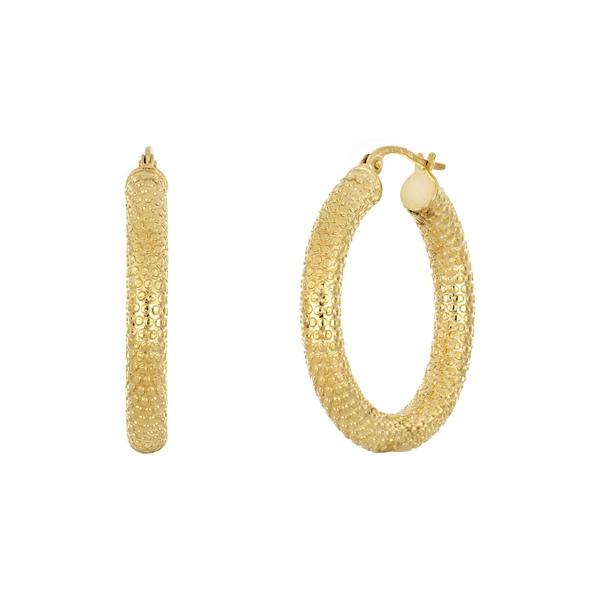 品質は非常に良い ボニー レヴィ レディース Earrings ピアス Gold&イヤリング 14KY アクセサリー 14K Yellow Gold Textured 20mm Hoop Earrings 14KY, 市場町:36911e7a --- promilahcn.com