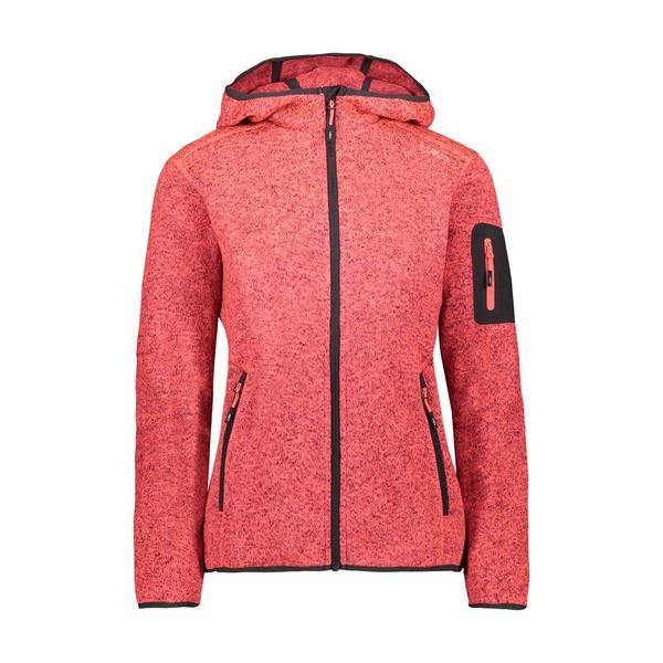 シーエムピー 限定Special Price レディース アウター ジャケット 価格 ブルゾン Red Fluo Melange Jacket CMP Fix xkri015d Antracite 全商品無料サイズ交換 Hood