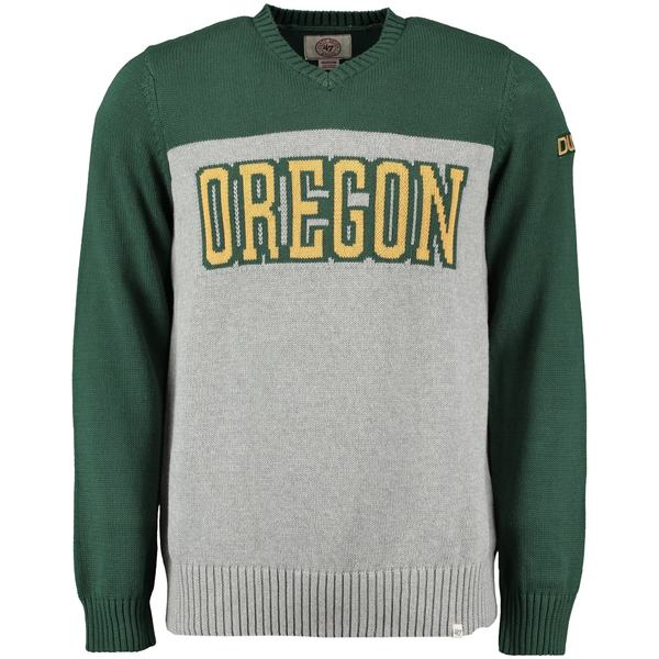 フォーティーセブン メンズ シャツ トップス Oregon Ducks '47 Drop Back Sweater Gray