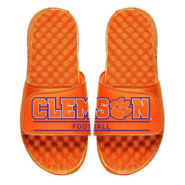 アイスライド メンズ サンダル シューズ Clemson Tigers ISlide Wordmark Split Slide Sandals White