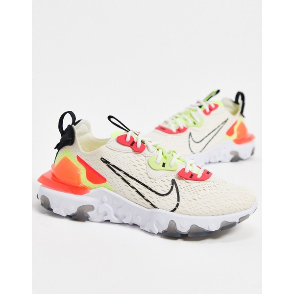 ナイキ レディース スニーカー シューズ Nike React Vision in cream pink and green Ivory/pink