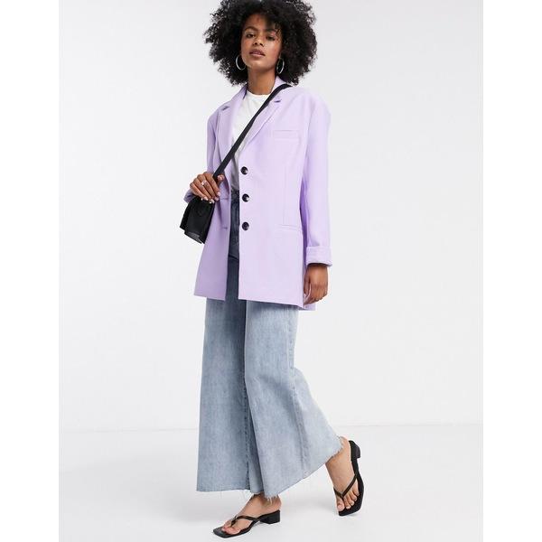 エイソス レディース ジャケット&ブルゾン アウター ASOS DESIGN extreme dad blazer in lilac Lilac