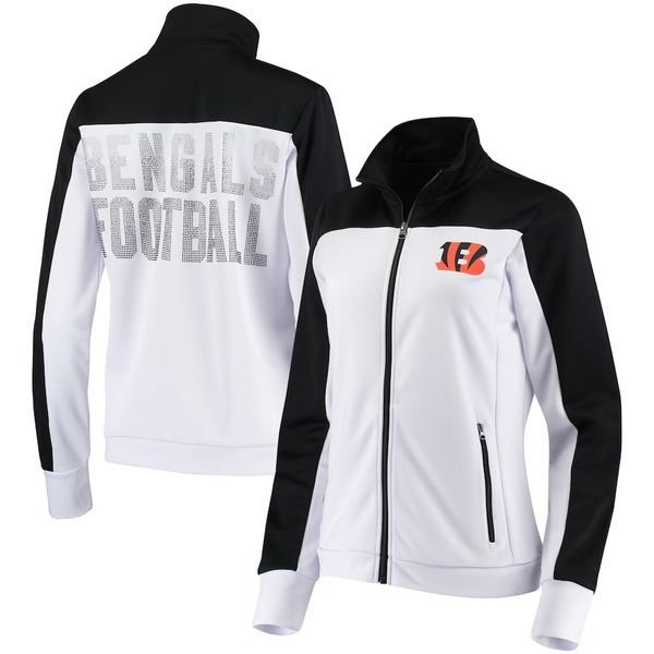 カールバンクス レディース ジャケット&ブルゾン アウター Cincinnati Bengals G-III 4Her by Carl Banks Women's Playmaker Full-Zip Track Jacket White/Black