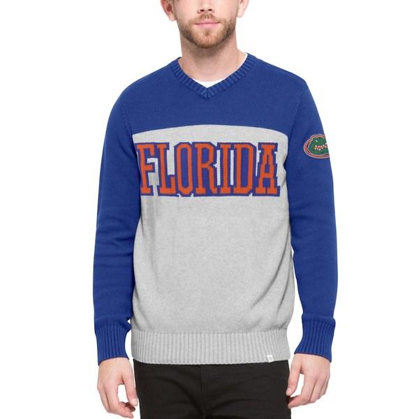 フォーティーセブン メンズ シャツ トップス Florida Gators '47 Drop Back Sweater Gray