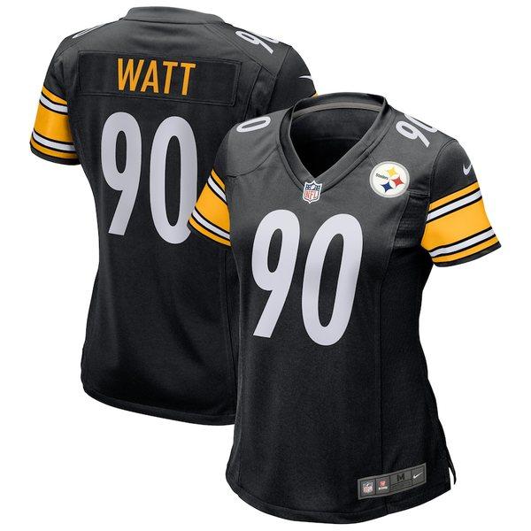 ナイキ レディース シャツ トップス T.J. Watt Pittsburgh Steelers Nike Women's Game Player Jersey Black