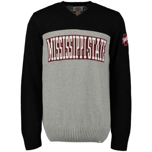 フォーティーセブン メンズ シャツ トップス Mississippi State Bulldogs '47 Drop Back Sweater Gray