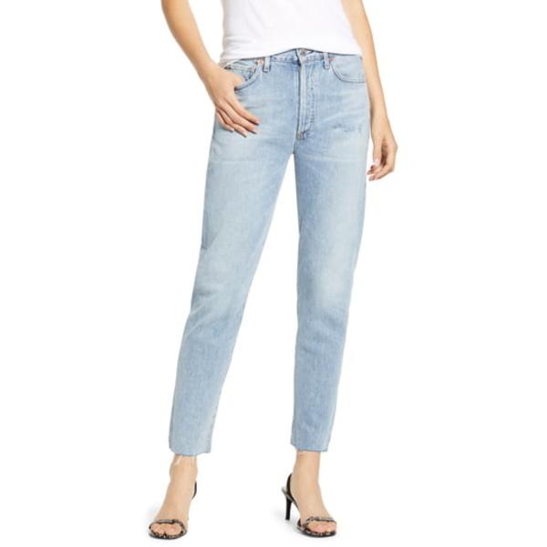 シチズンズ オブ ヒューマニティ レディース デニムパンツ ボトムス Liya High Waist Raw Hem Slim Jeans Coastal