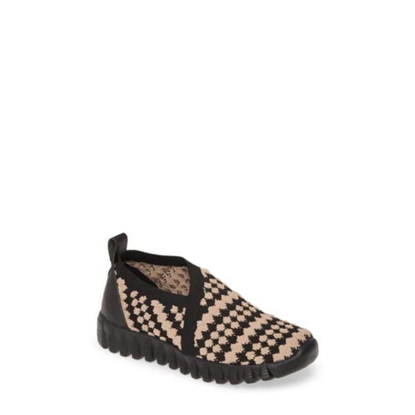 バーニーメブ レディース スニーカー シューズ Amie Slip-On Sneaker Black/ Blush Fabric