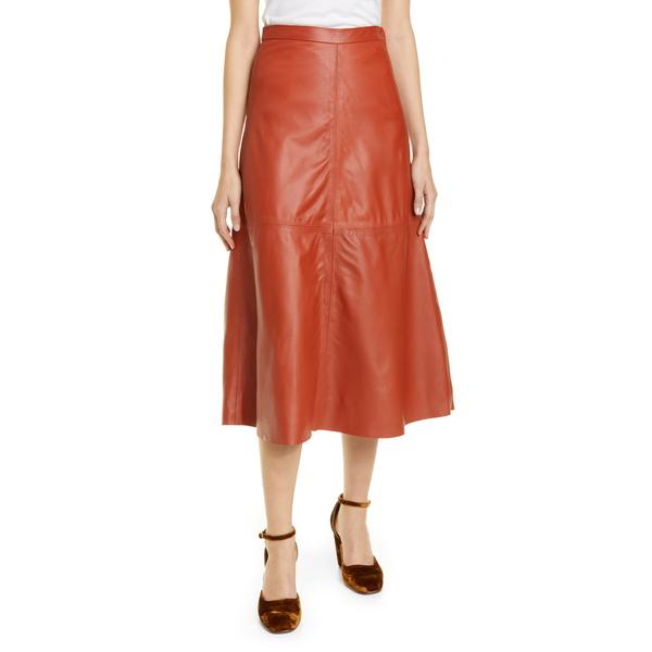 レイチェルコーニー レディース スカート ボトムス Content Leather Skirt Cognac