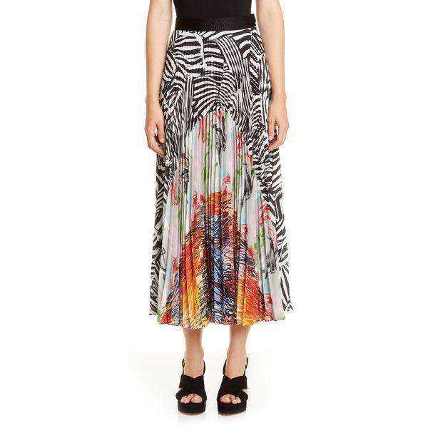 ミッソーニ レディース スカート ボトムス Mixed Print Pleated Maxi Skirt Black/ White Multi