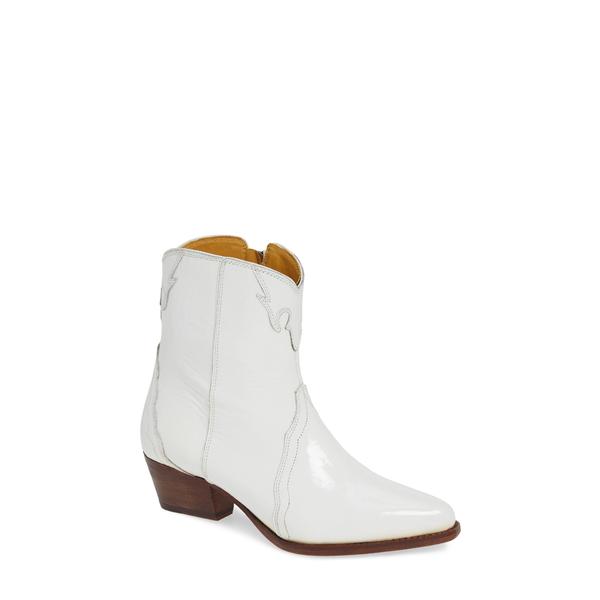 フリーピープル レディース ブーツ&レインブーツ シューズ New Frontier Western Bootie White Leather