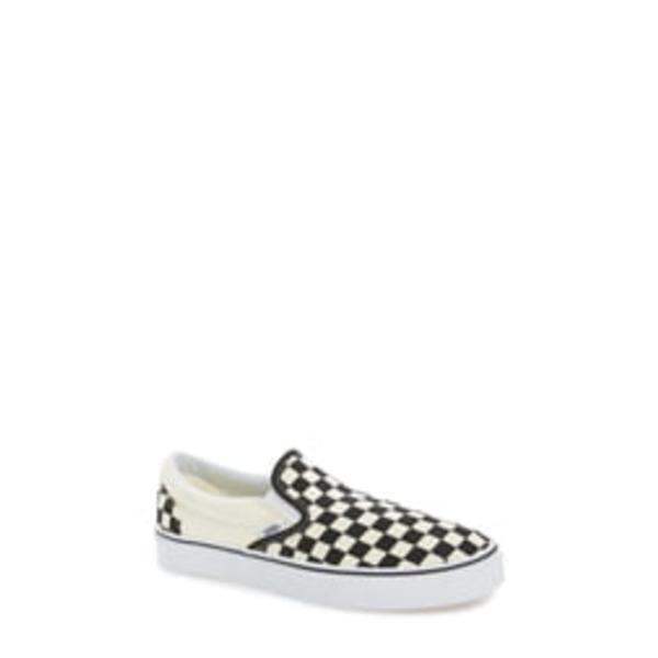 バンズ メンズ スリッポン・ローファー シューズ Classic Slip-On Black/ White Checker/ White