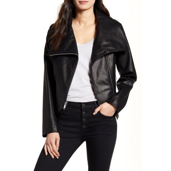 フレンチコネクション レディース ジャケット&ブルゾン アウター Faux Leather Moto Jacket Black