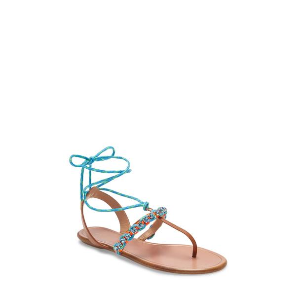 アクアズーラ レディース サンダル シューズ Aquazurra Braided Surf Lace-Up Sandal Multi Neon