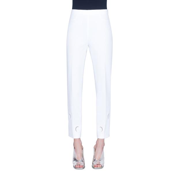 アクリス プント レディース カジュアルパンツ ボトムス Franca Tulle Trim Luna Cutout Ankle Pants Cream