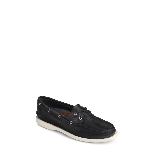 スペリー レディース スニーカー シューズ 'Authentic Original' Boat Shoe Black/ Black Leather