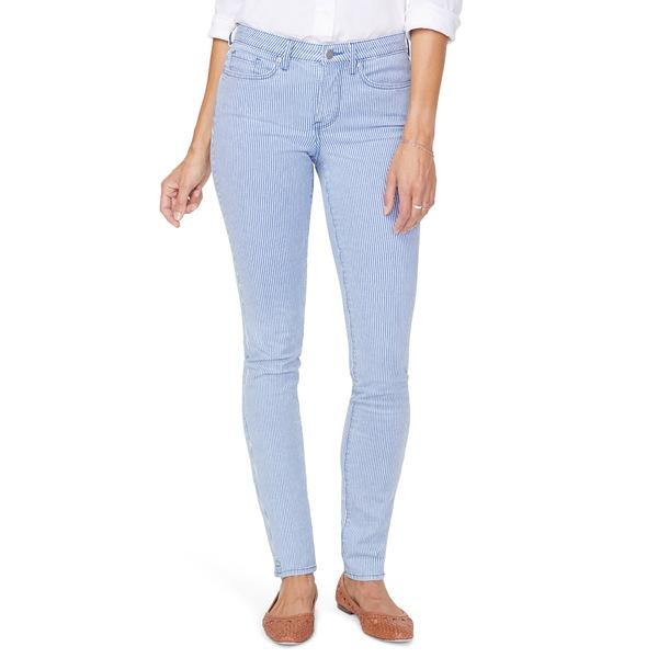 エヌワイディージェイ レディース デニムパンツ ボトムス Alina Pinstripe High Waist Stretch Skinny Jeans Trella