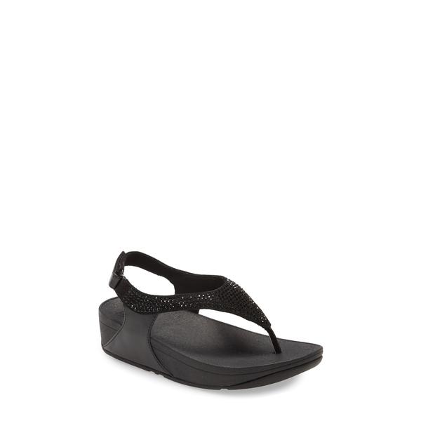 フィットフロップ レディース サンダル シューズ Skylar Embellished Sandal Black Faux Leather