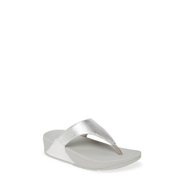 フィットフロップ レディース サンダル シューズ Lulu Flip Flop Silver Leather