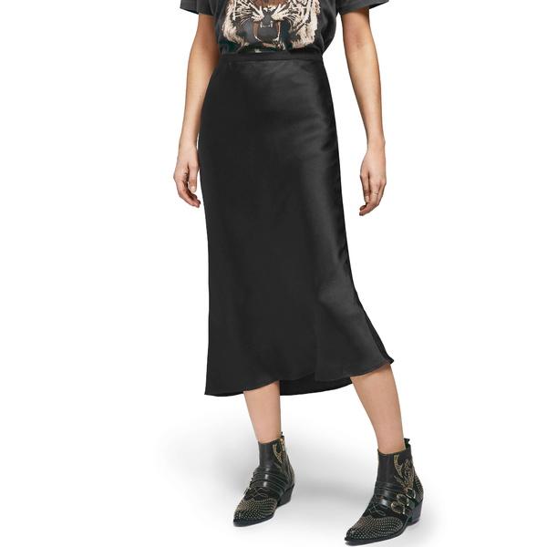アニービン レディース スカート ボトムス Bar Silk Midi Skirt Black