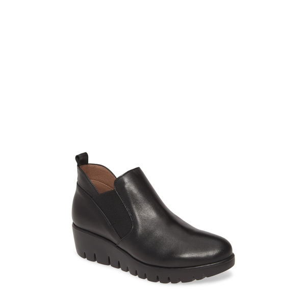 ワンダーズ レディース ブーツ&レインブーツ シューズ C-33176 Chelsea Boot Black Smooth Leather