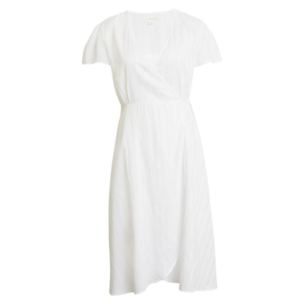 トレジャーアンドボンズ レディース ワンピース トップス Wrap Dress White