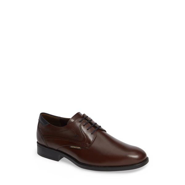 メフィスト メンズ ドレスシューズ シューズ Cirus Plain Toe Derby Dark Brown/ Navy Leather