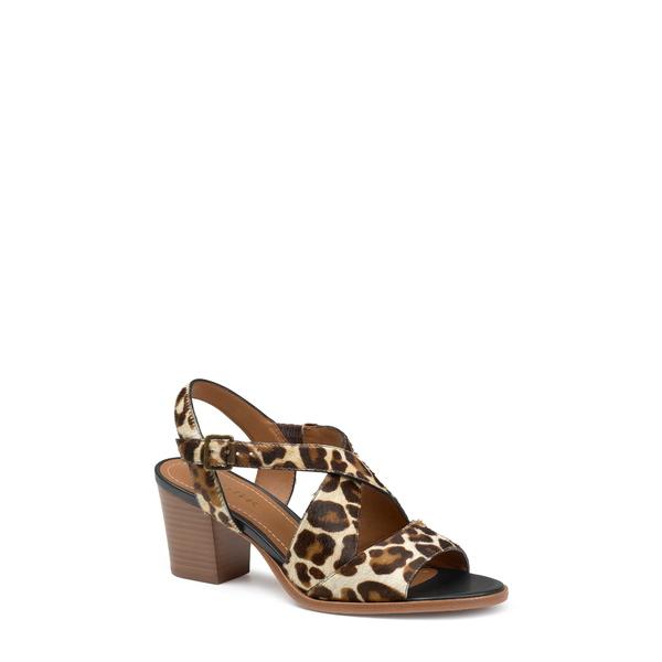 トラスク レディース サンダル シューズ Charlene Slingback Sandal White Leopard Calf Hair