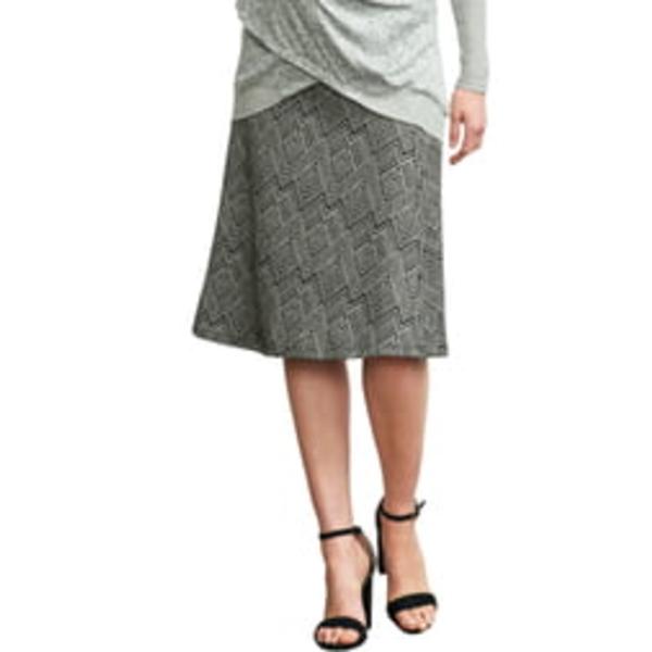 マターナルアメリカ レディース スカート ボトムス Print A-Line Maternity Skirt Ivory Diamond