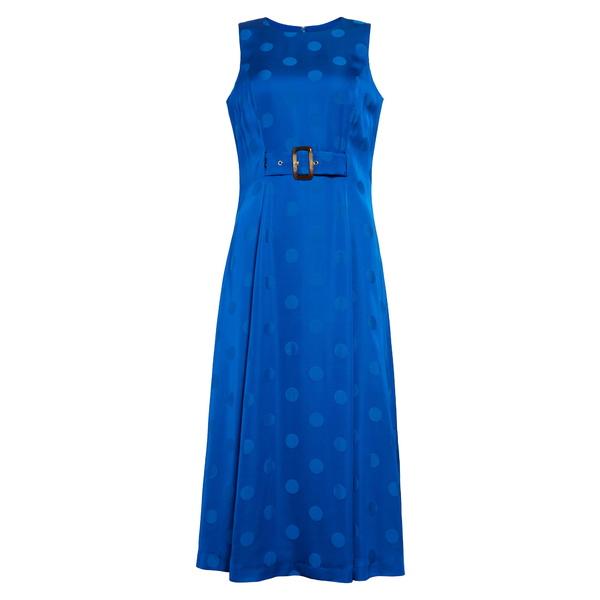 テッドベーカー レディース ワンピース トップス Innabel Belted A-Line Midi Dress Bright Blue