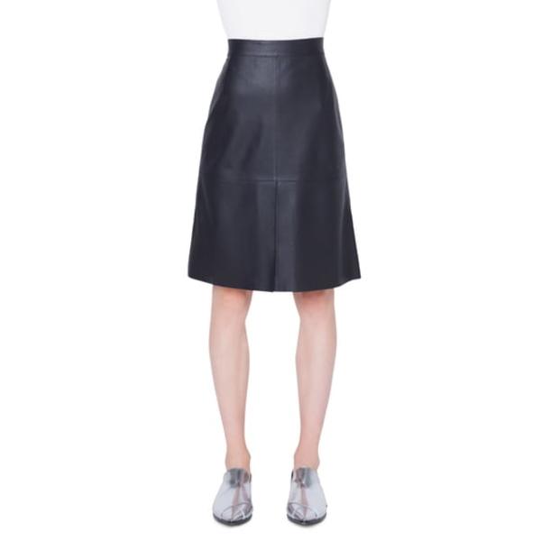 アクリス プント レディース スカート ボトムス Perforated Leather Skirt Nero