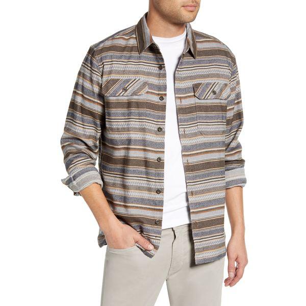 パタゴニア メンズ シャツ トップス Fjord Regular Fit Organic Cotton Flannel Shirt Folk Dobby Bristle Brown