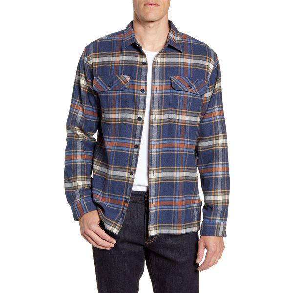 パタゴニア メンズ シャツ トップス Fjord Regular Fit Organic Cotton Flannel Shirt Defender New Navy