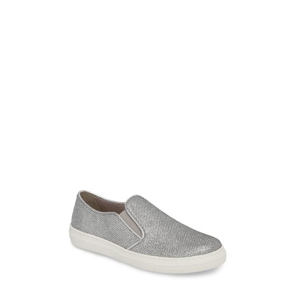 ガボール レディース スニーカー シューズ Garbor Fashion Slip-On Sneaker Silver Metallic Fabric