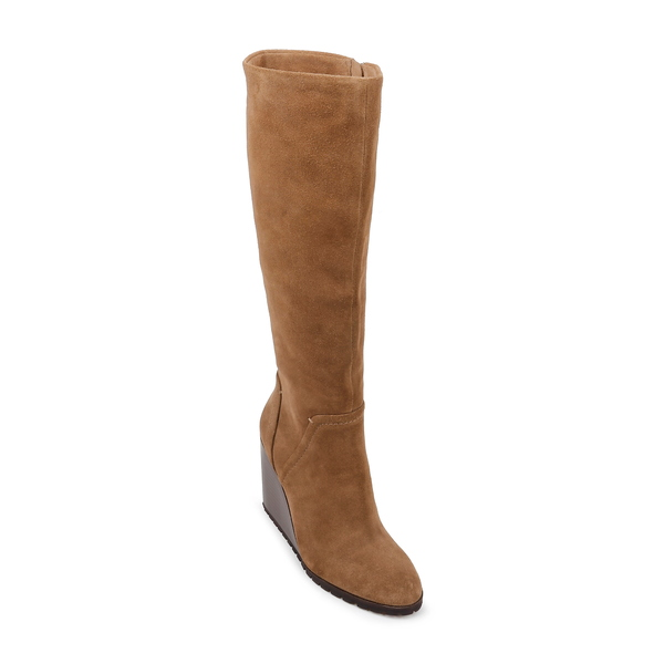 スプレンディット レディース ブーツ&レインブーツ シューズ Patience Knee High Boot Light Brown Suede
