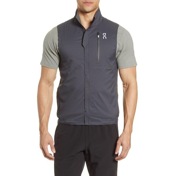 オン メンズ ジャケット&ブルゾン アウター Water Repellent Weather Vest Black