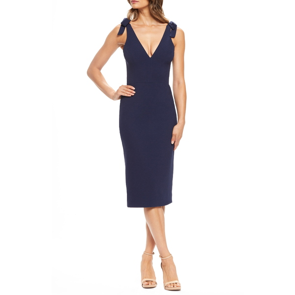 ドレスザポプレーション レディース ワンピース トップス Lita Tie Cocktail Dress Midnight Blue