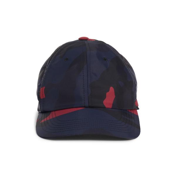 ヴァレンティノ メンズ 帽子 アクセサリー Camo Baseball Cap Marine/ Scarlet