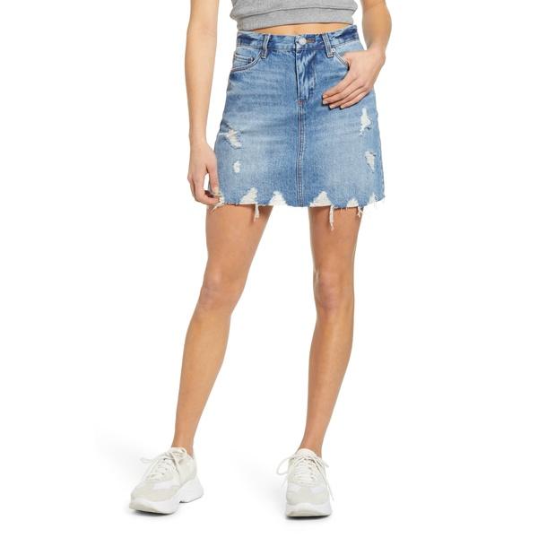 ブランクニューヨーク レディース スカート ボトムス Distressed Denim Miniskirt Love It Or Leave It