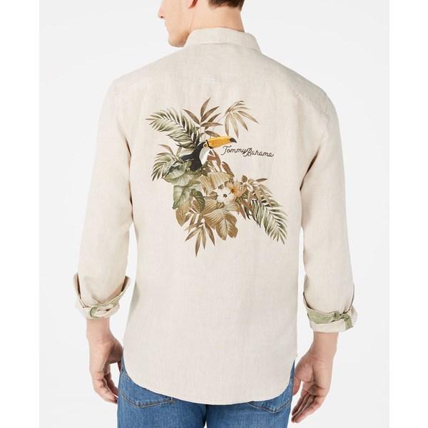 愛用  トッミーバハマ メンズ シャツ トップス Men&39;s Big & Tall Toucan Escape Tropical Print Linen Shirt Natural Linen, un-アン- b2fdbe06